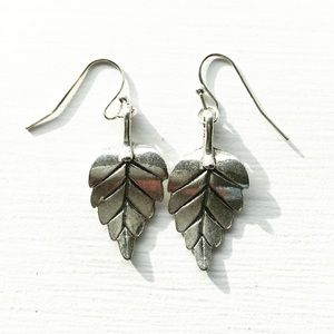 Little Silver Leaf Earrings